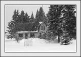 Hansel & Gretel House in snowstorm