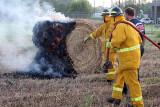 Hay bale fire 07/24/07