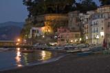 Sorrento fishing village at night
