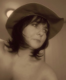 HAT DAY IN SEPIA