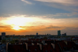 Sun Setting Over Warsaw