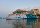 Balearia Ferry Leaving Port Vell