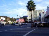 American flag on Hollywood Boulevard