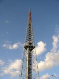 TV tower 275 feet tall.