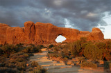 norrth window arch sunset
