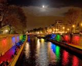 Multi coloured Seine River, Paris