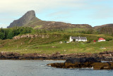 Scurr of Eigg and cottages