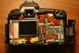 Camera body, back cover removed.