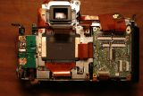 Close up on camera body and image sensor.