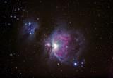 The Orion Nebula and Running Man Nebula