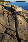 Rock Detail and Sand Beach