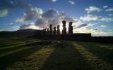 Moai, early morning, Ahu Tongariki.