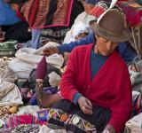 Pisac market.