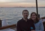 Tom & Jenn--little island is Alcatraz, San Francisco behind us
