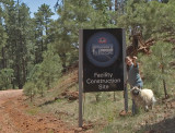 Discovery Channel Telescope sign