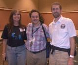 Jenn and Tom with Andy Chaikin, author of A Man on the Moon