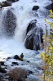 Fisherman below Firehole Falls