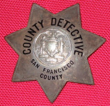 rare 20's or 30's SF County Dective used by the DA