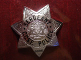 1980's obsolete CCSF Sergeant Badge