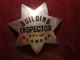 sterling Building Inspector badge rare