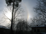 Such a halo circle round the sun means changing weather - in this case rain..