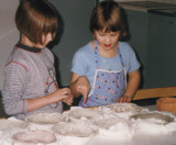 Girls moulding clay.. I must still do something with this one!