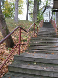 Stairs to  the Impivaara House,