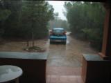 Think I'll stay inside 'till the rain stops