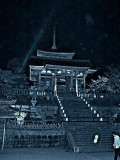 Kiyomizu main temple at night