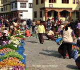 Bhutanese Market Scene