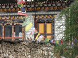 Prayer flags on the terrace