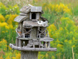 The fence post bird houses at Stokes Bay, Bruce Peninsula, Ontario