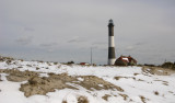 Snow Covers Fire Island