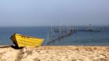 yellow fishing boat