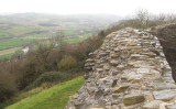 Dolforwyn Castle overlooking the Severn Valley