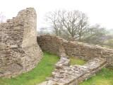 Dolforwyn Castle,looking east