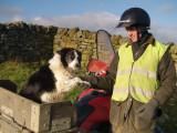 Floss,the collie with Stuart Elliott