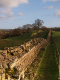 Hadrian's Wall,looking east,between Turret 48a and 48b,Willowford
