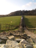 Hadrian's Wall,looking to Willowford Bridge abutment