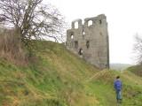Clun castle earthworks