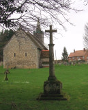 Commemorative Cross,with St.Mary the Virgin church behind