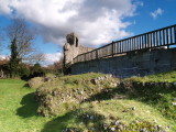Eynsford Castle,the collapsed wall