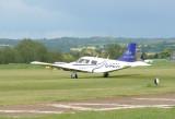 Modern day plane lands on Historic Runway