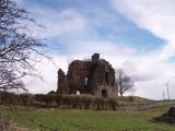 Torthorwald Castle,ruined keep, looking east.