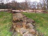 Caerlaverock Castle,circa 1220-1277,foundations