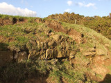 Birrens Roman Fort,foundation stones for a barrack block