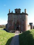 Caerlaverock Castle,the main entrance.