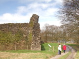 Lochmaben Castle,to show how high are the remains.