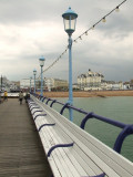 Seating on Eastbourne pier