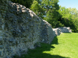 Bramber  Castle, part  of  the  Bailey  wall.